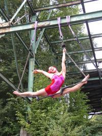 Akrobatik am Zechenkran