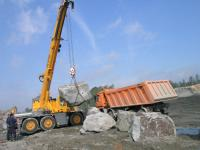 Steintransport aus dem Kessel